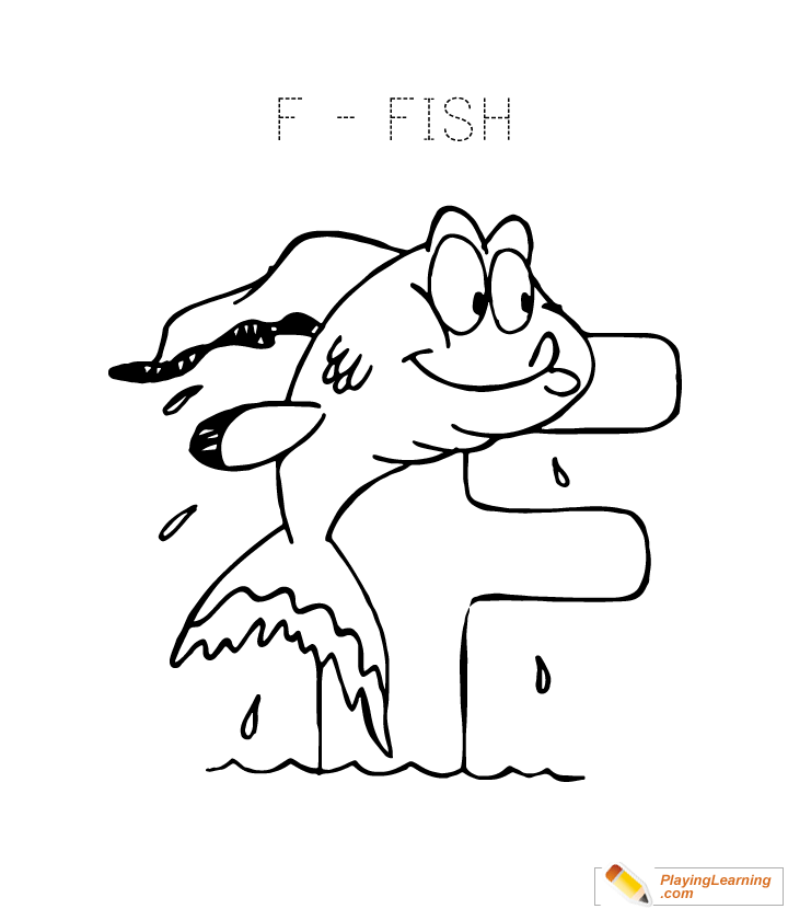 Alphabet Coloring Letter F Coloring Page Free Alphabet Coloring Letter F  Coloring Page