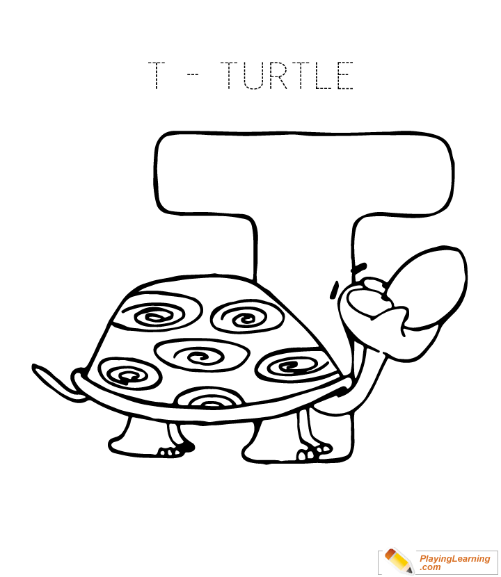 Letter T Coloring Page Free Letter T Coloring Page