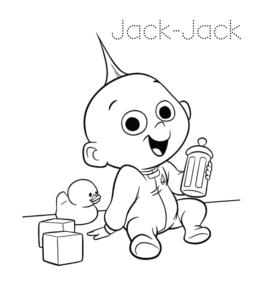 The Incredibles JackJack Coloring