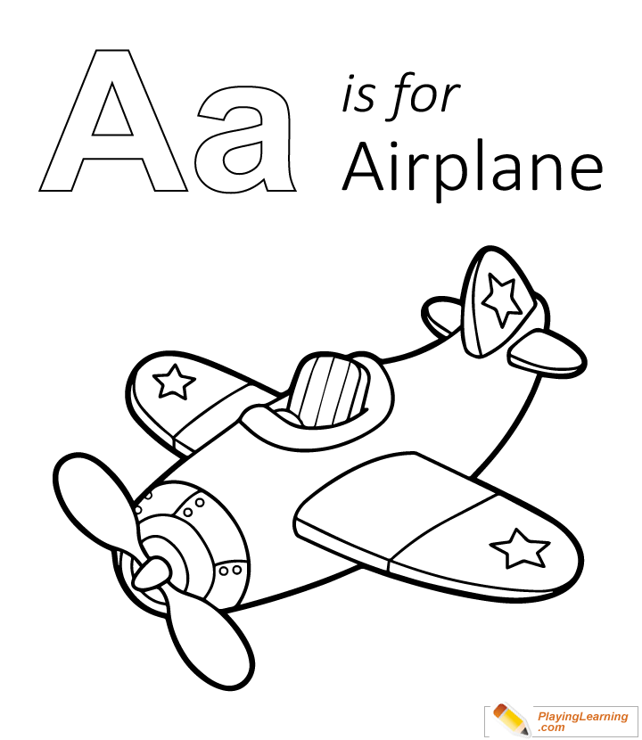 - A Is For Airplane Coloring Page 02 Free A Is For Airplane Coloring Page