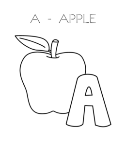 Learning Letter A In The Alphabet Playing Learning