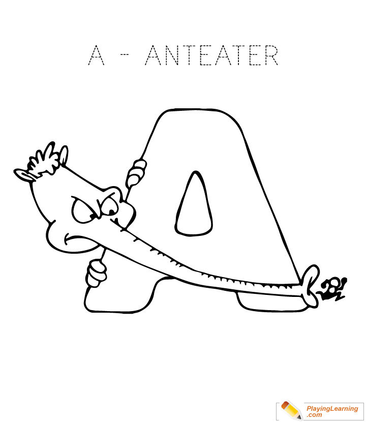 Alphabet Coloring Letter A Coloring Page Free Alphabet Coloring Letter A Coloring Page