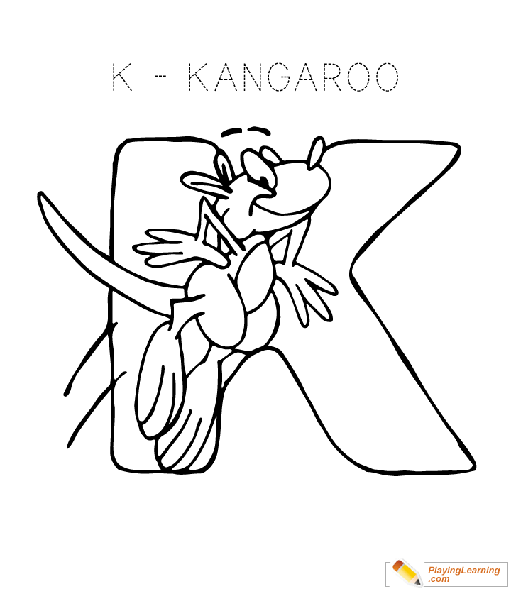 Alphabet Coloring Letter K Coloring Page Free Alphabet Coloring