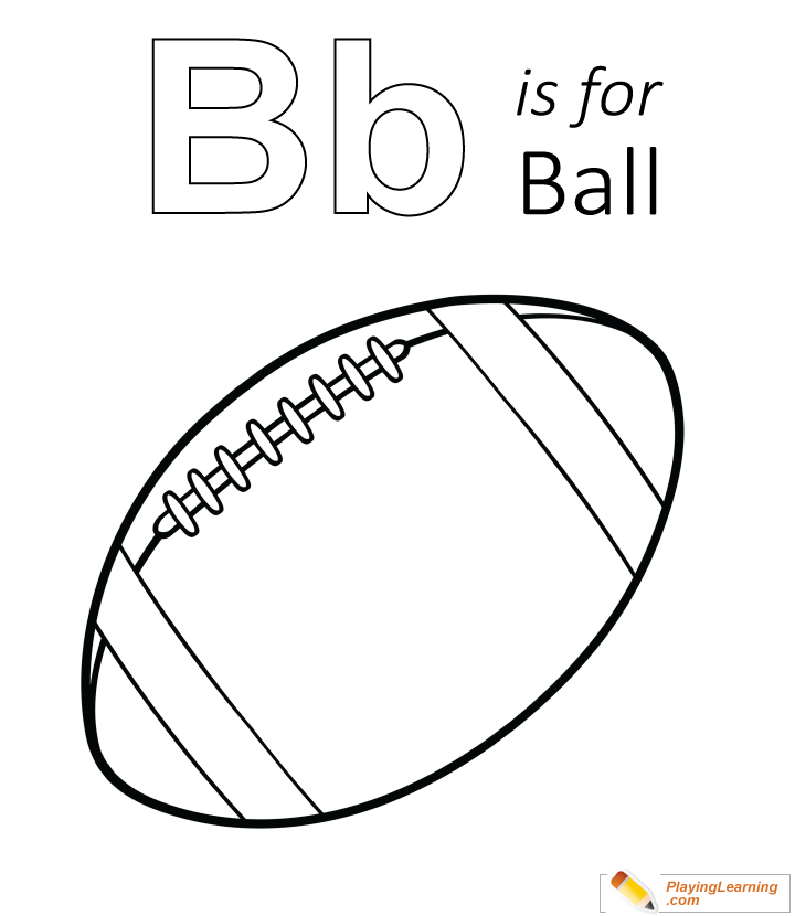 B Is For Ball Coloring Page 01 | Free B Is For Ball Coloring ...