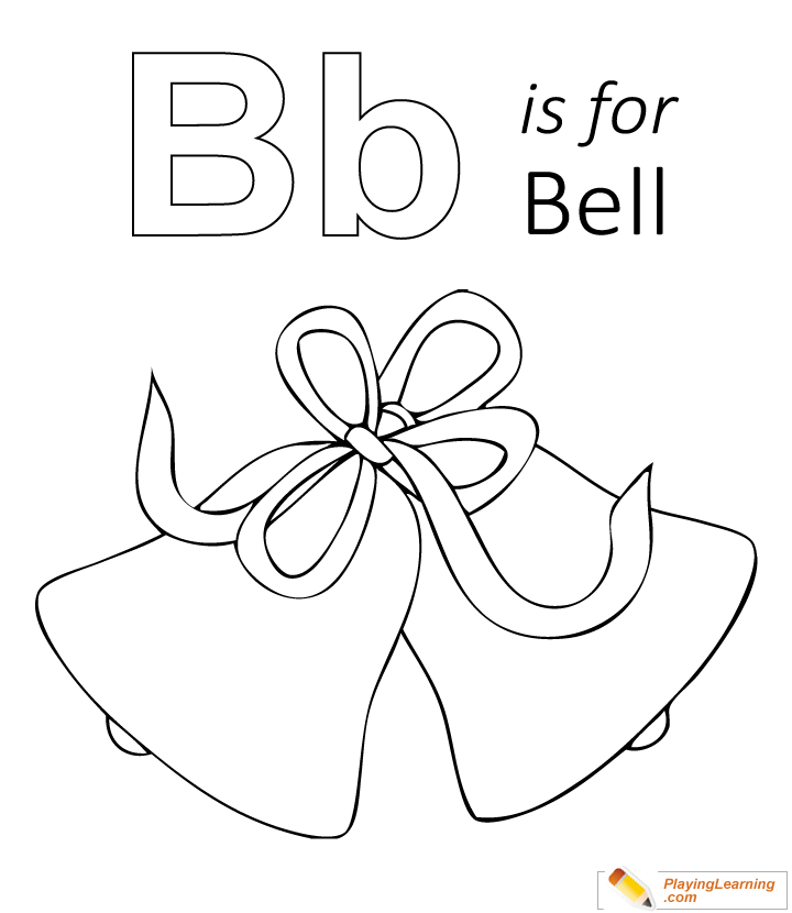 B Is For Bell Coloring Page Kids