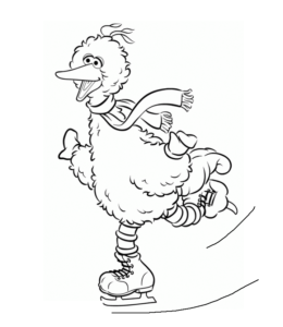 Big Bird Coloring Pages Playing Learning