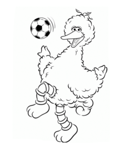 coloring pages of big bird - photo#20
