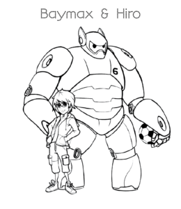 Big Hero 6 Coloring Pages | Disneyclips.com | 300x260