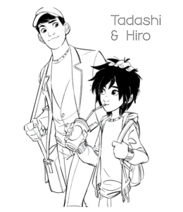Big Hero 6 Movie Characters Coloring Pages Playing Learning