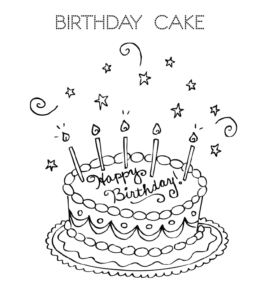 Magnificent Cake And Birthday Cake Coloring Pages Playing Learning Personalised Birthday Cards Beptaeletsinfo