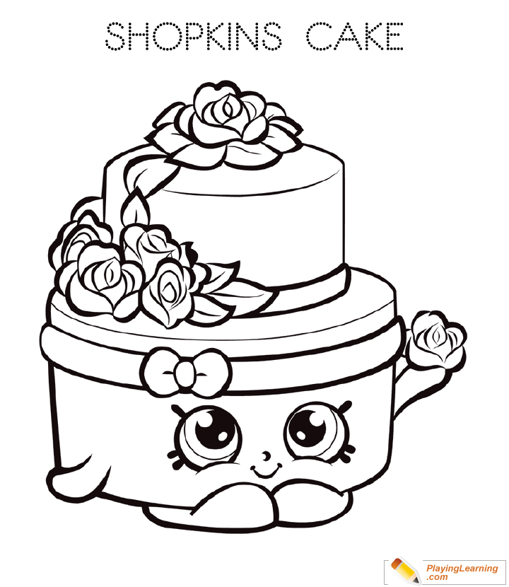 Birthday Cake Coloring Page 06 | Free Birthday Cake Coloring ...