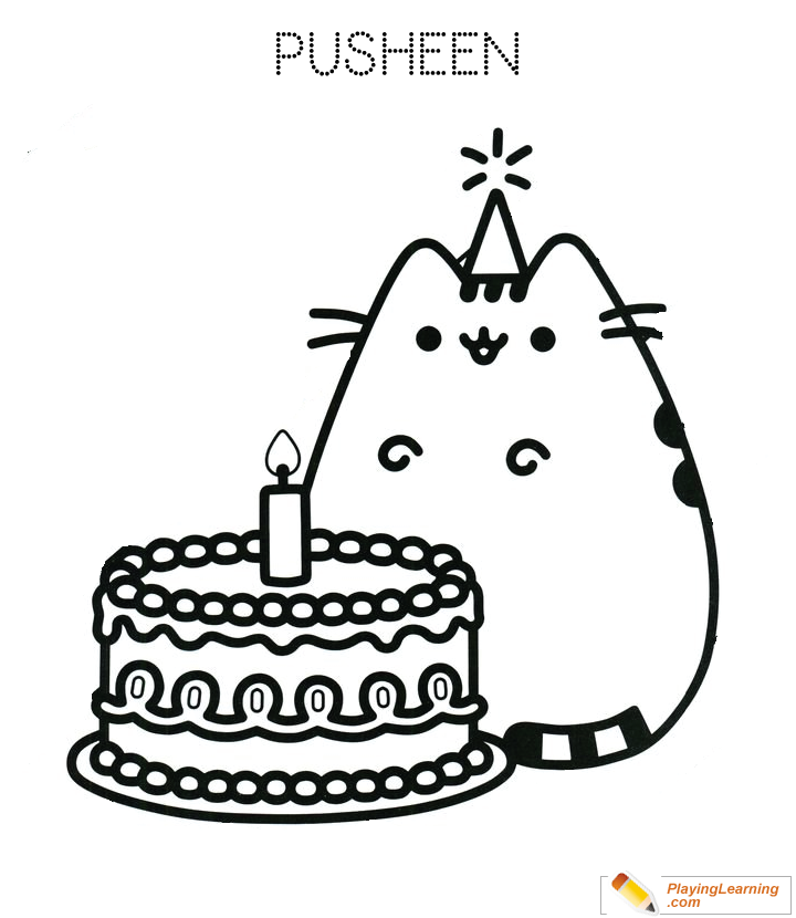 Birthday Cake Coloring Page 10 Free Birthday Cake Coloring Page