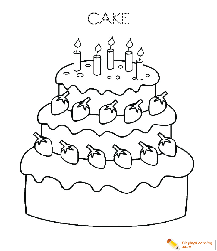 Incredible Birthday Cake Coloring Page 13 Free Birthday Cake Coloring Page Funny Birthday Cards Online Overcheapnameinfo