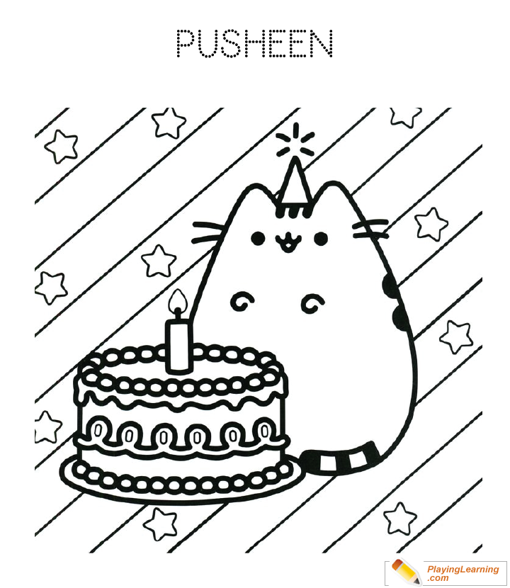 Birthday Cake Coloring Page 22 | Free Birthday Cake Coloring ...