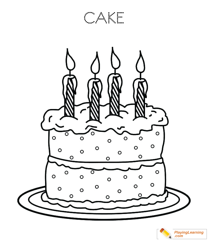 Awe Inspiring Birthday Cake Coloring Page 30 Free Birthday Cake Coloring Page Personalised Birthday Cards Beptaeletsinfo