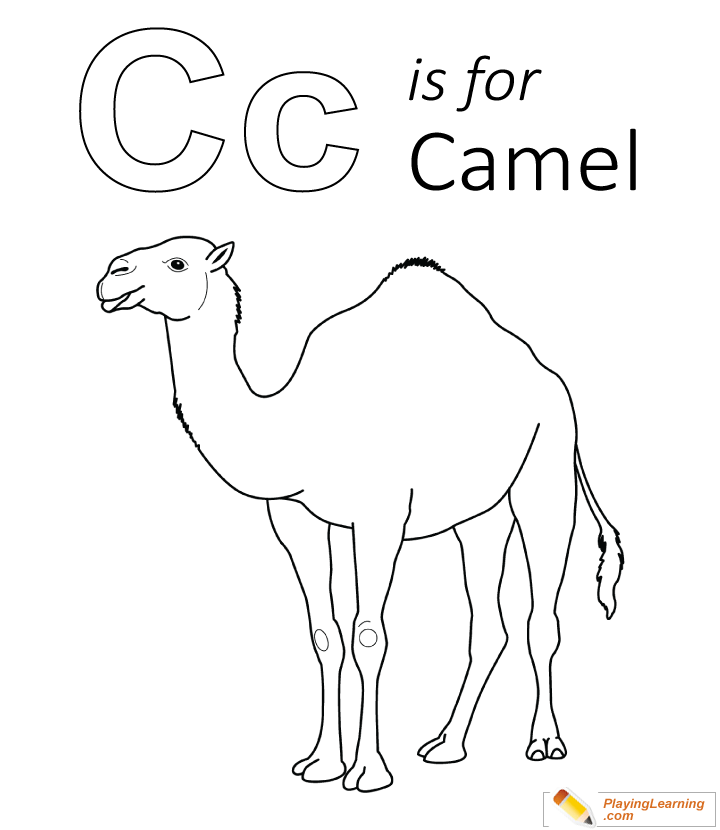 C Is For Camel Coloring Page 02 | Free C Is For Camel Coloring Page