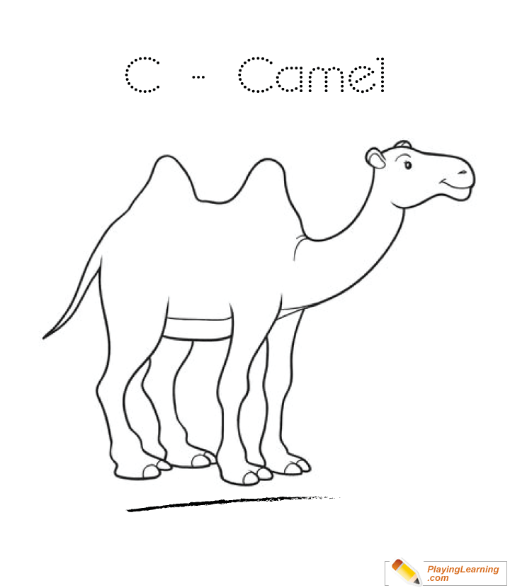 C Is For Camel Coloring Page 03 Free C Is For Camel Coloring Page