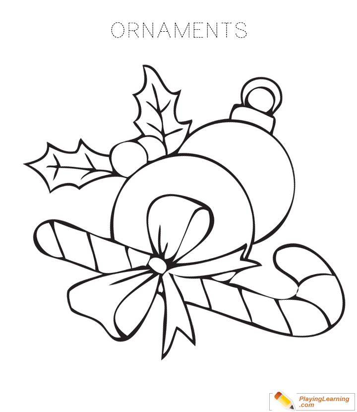 Christmas Ornament Coloring Page 03 Free Christmas Ornament Coloring Page