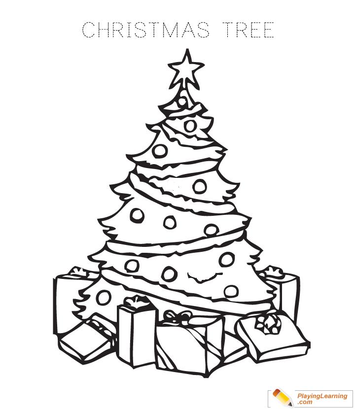 Christmas Tree Coloring Page 01 | Free Christmas Tree ...