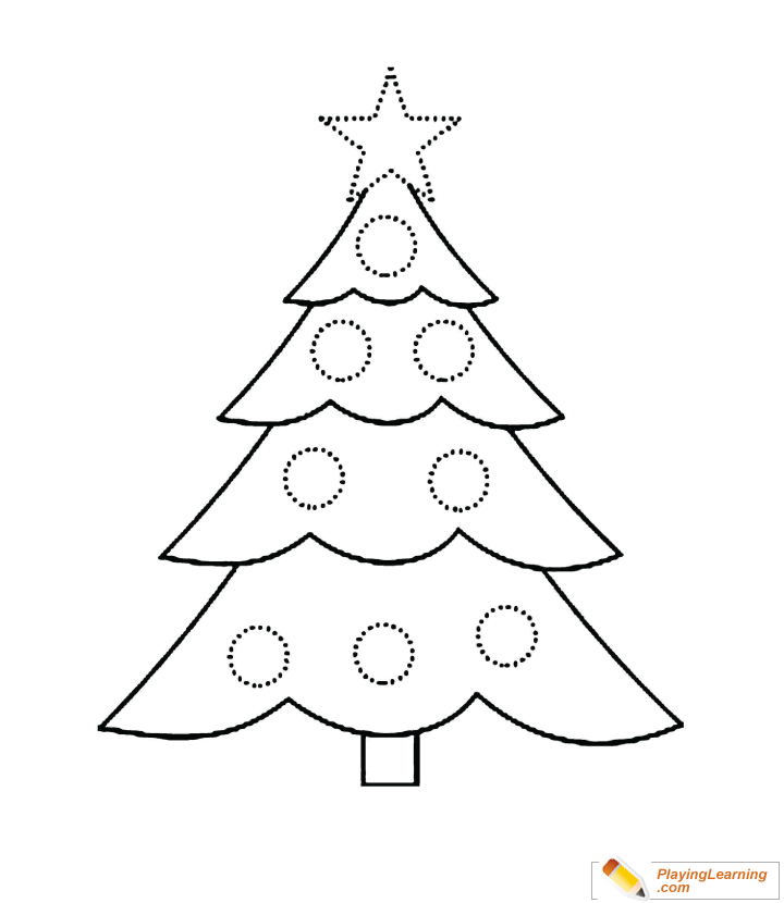 Christmas Tree Coloring Page 02 Free Christmas Tree Coloring Page