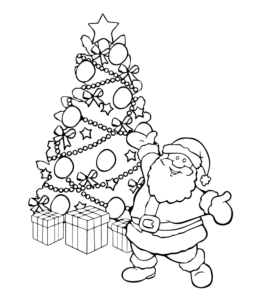 Christmas Coloring Page 8 For Kids