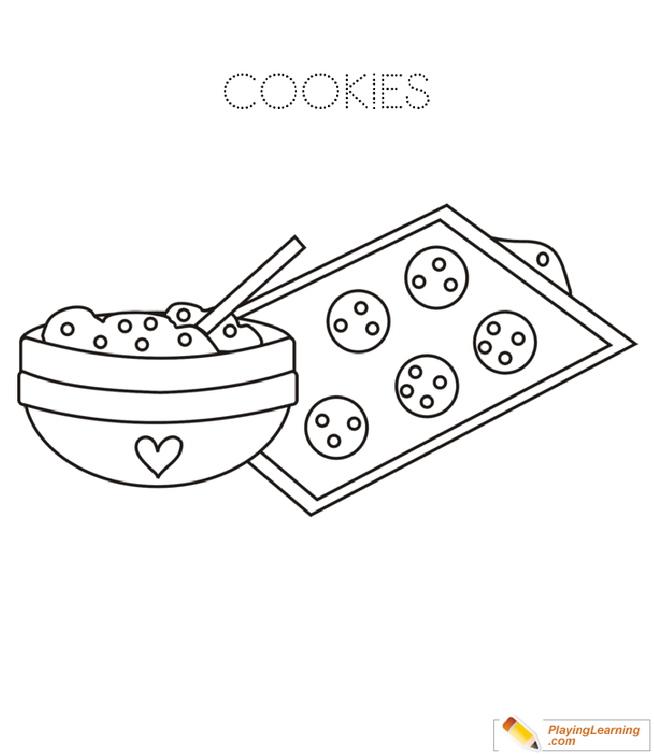 Cookies Coloring Page: Free Cookie Coloring Page