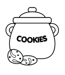 Cookie Coloring Pages | Playing Learning