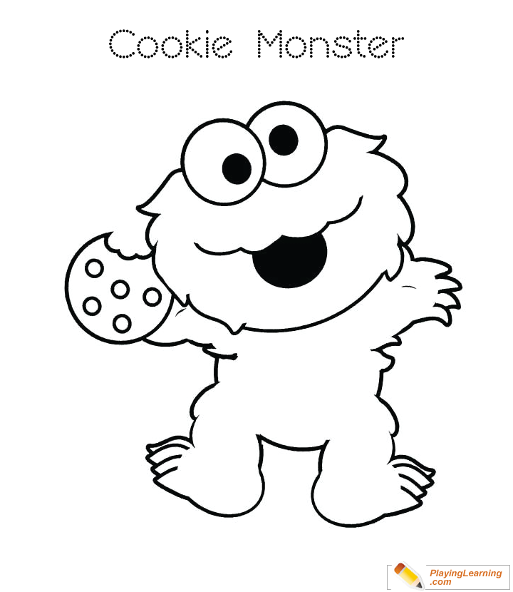 Cookie Monster Coloring Page 13 | Free Cookie Monster Coloring Page