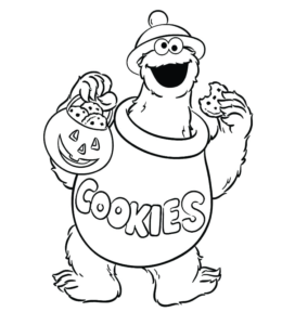 Monster Coloring Sheets - Coloring Home | 300x260