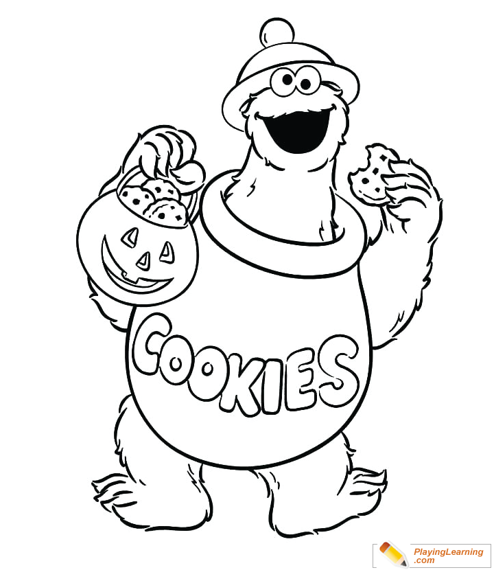 Cookie Monster Coloring Page for Kids