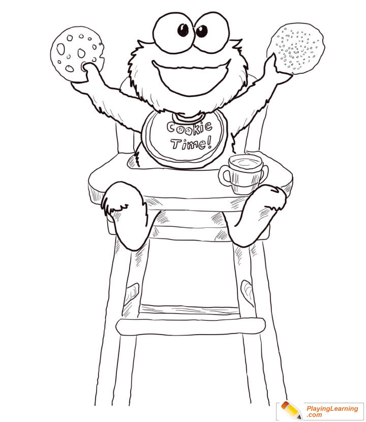 Cookie Monster Coloring Page 40 | Free Cookie Monster ...