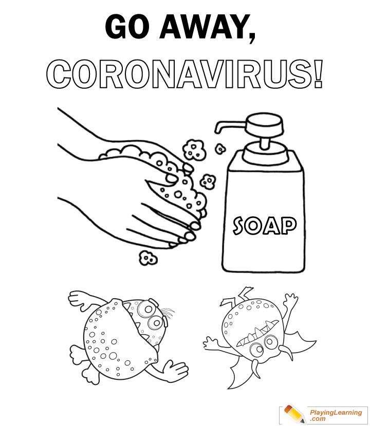 Coronavirus Coloring Page 03 Free Coronavirus Coloring Page