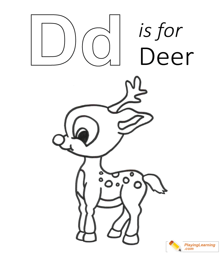 D Is For Deer Coloring Page Free D Is For Deer Coloring Page
