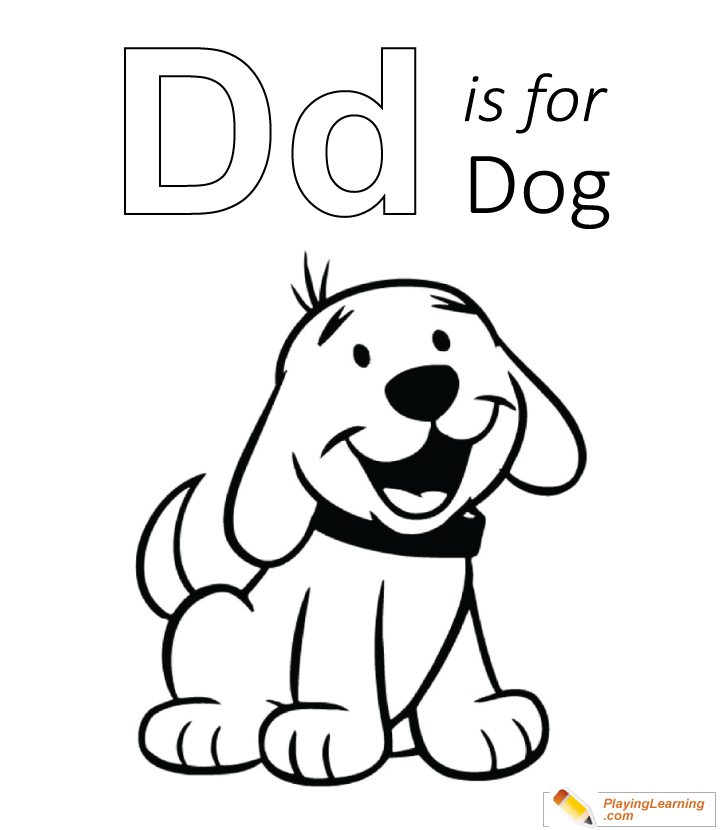 D Is For Dog Coloring Page | Free D Is For Dog Coloring Page