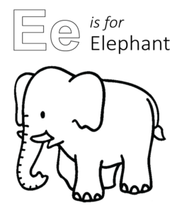 Learning Letter E In The Alphabet Playing Learning