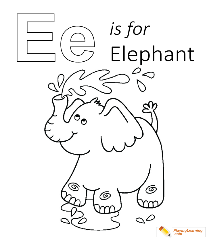 E Is For Elephant Coloring Page | Free E Is For Elephant Coloring Page