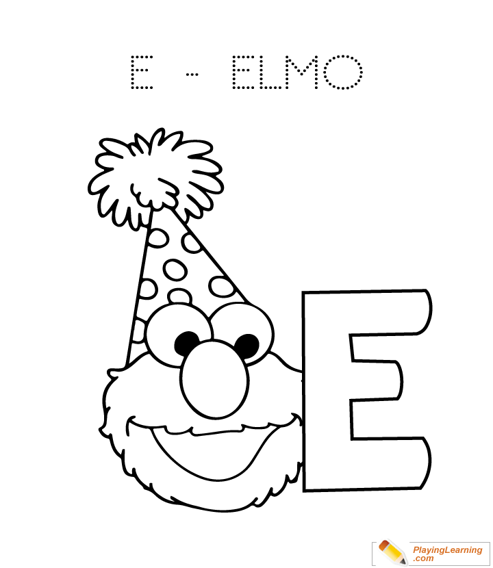 E Is For Elmo Coloring Page | Free E Is For Elmo Coloring Page
