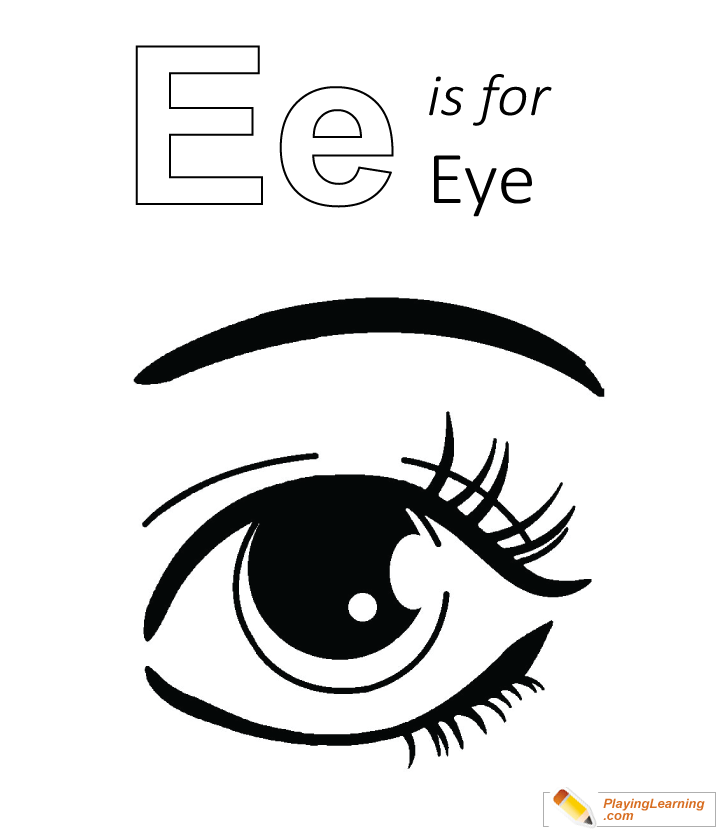 E Is For Eye Coloring Page Free E Is For Eye Coloring Page