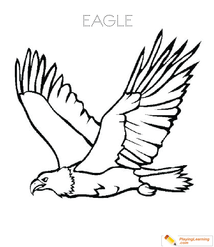 Eagle Coloring Page 14 | Free Eagle Coloring Page