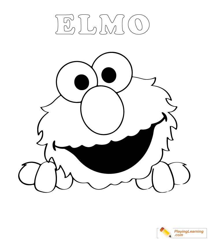 Easy Elmo Coloring Page 02 Free Easy Elmo Coloring Page