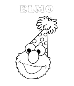 Easy Elmo Coloring Page 3 For Kids