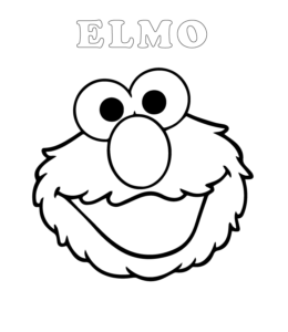 Easy Sesame Street Elmo Coloring Pages Playing Learning