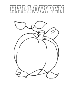 easy halloween coloring pages Easy Halloween Coloring Pages | Playing Learning easy halloween coloring pages
