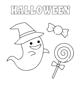 Easy Halloween Coloring Page 14 For Kids