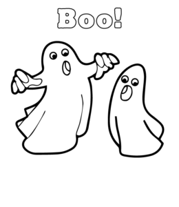 Easy Halloween Coloring Pages Playing Learning