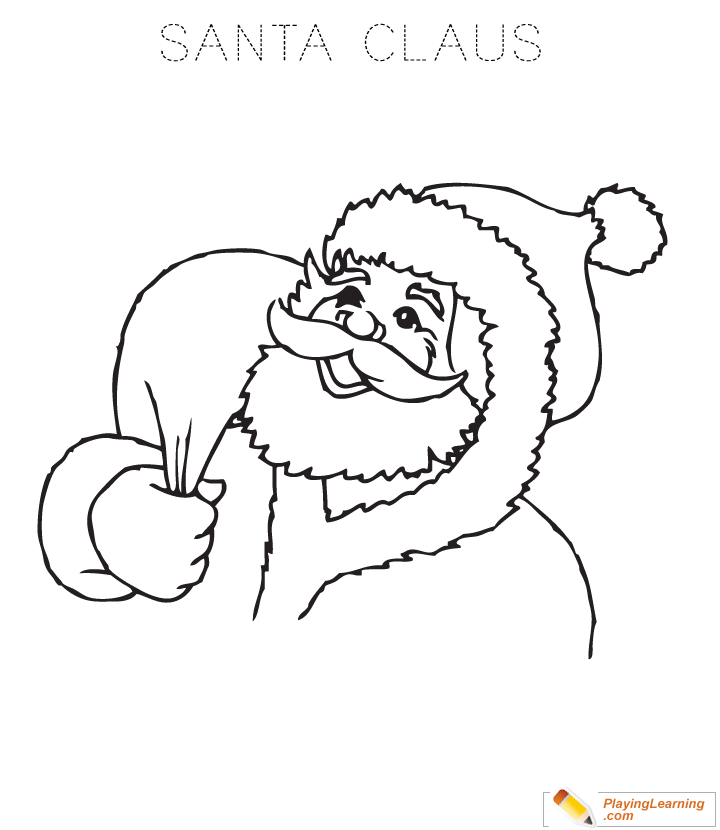 easy santa claus coloring page for kids