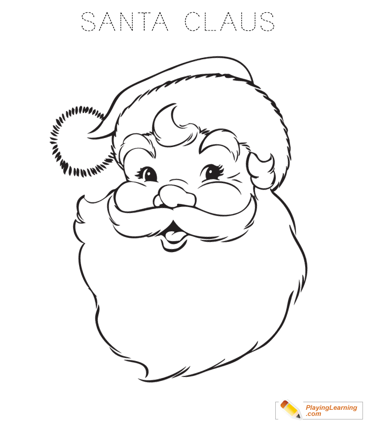 Easy Santa Claus Coloring Page 03 | Free Easy Santa Claus ...