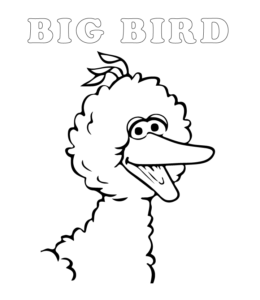 big bird face coloring pages - photo#37