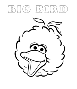 Easy sesame street elmo coloring pages playing learning for Big bird coloring page