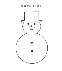 easy snowman coloring pages - photo#21